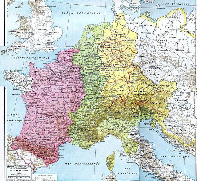 640px-Partage_de_l'Empire_carolingien_au_Traité_de_Verdun_en_843